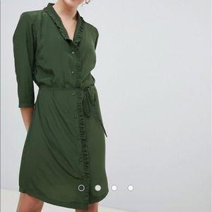 Jacqueline de Yong ASOS Green Dress Size 36 US 4